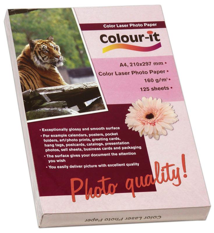 Inkjet/Laserpapper *Colour-it Laser Fotopapper A4, 160 gr