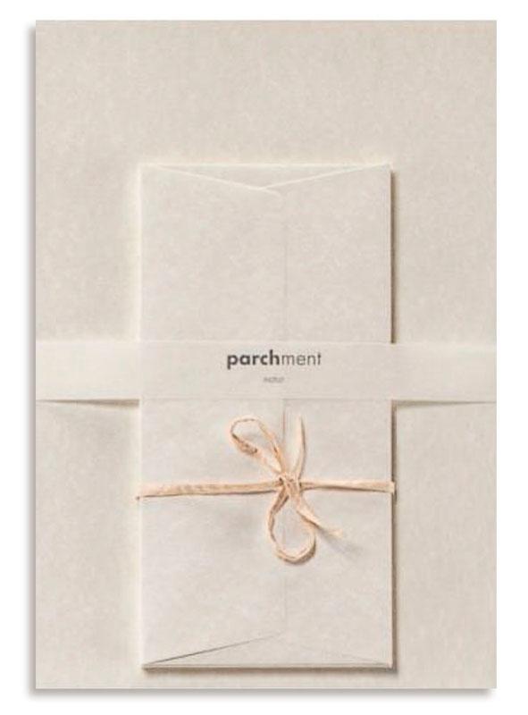 Skrivhäfte Brevpapper parchment 6+6, B-pack = 6
