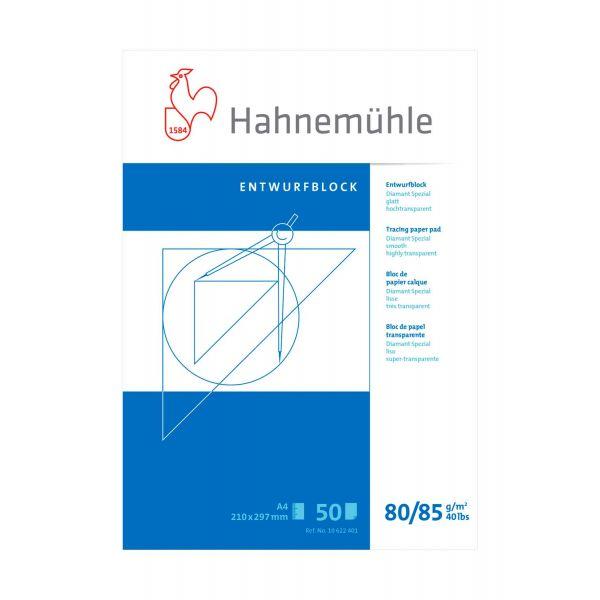 Tracingblock Hahnemühle Diamant Smooth 80/85g A4 50ark