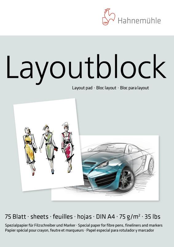 Marker/Layoutblock Hahnemühle 75g A4 75ark