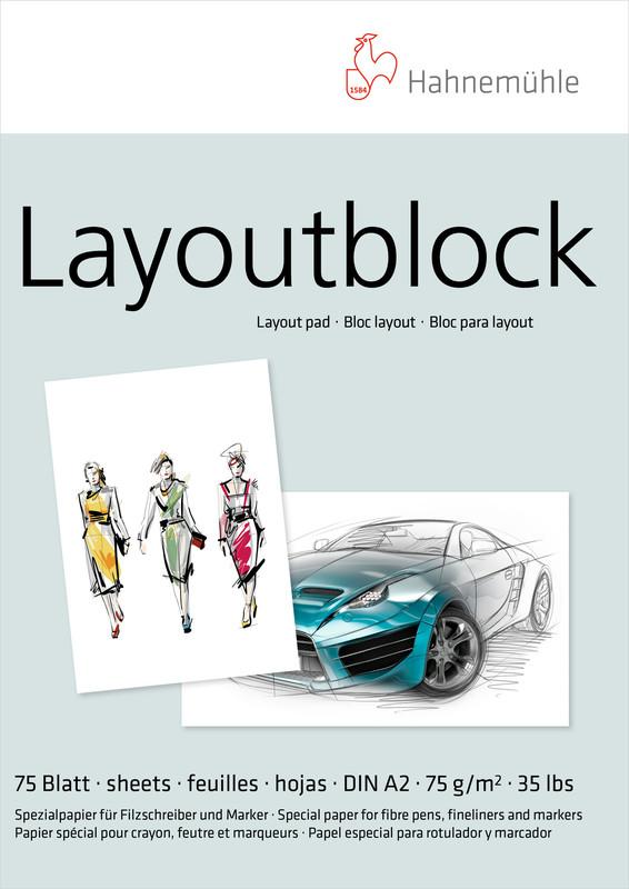 Marker/Layoutblock Hahnemühle 75g A2 75ark