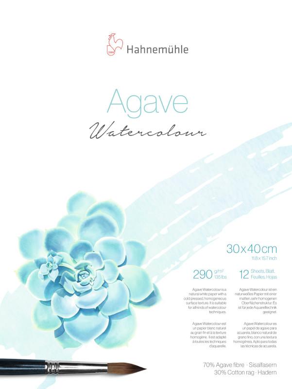 Akvarellblock Hahnemühle Agave 290g CP 30x40cm 12ark