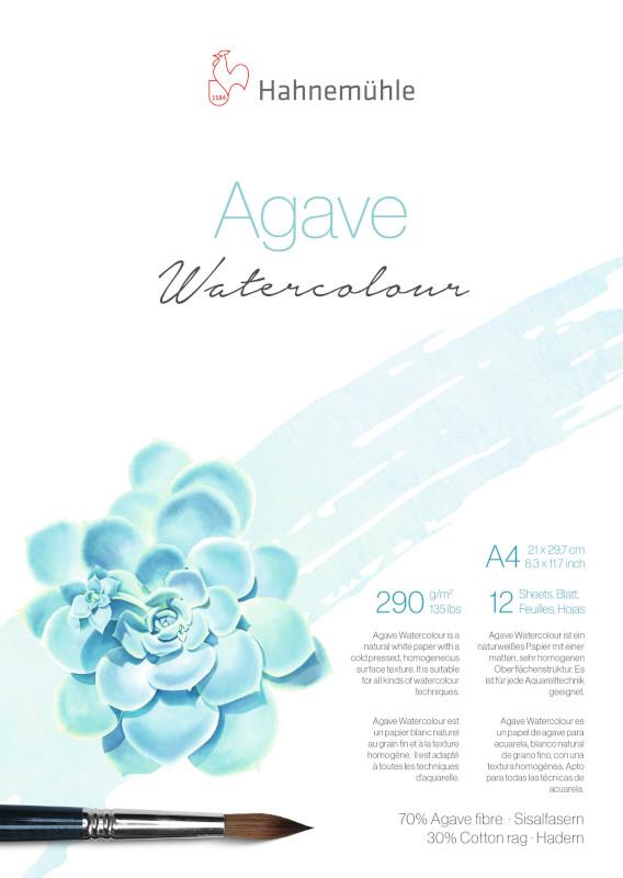 Akvarellblock Hahnemühle Agave 290g CP A4 12ark