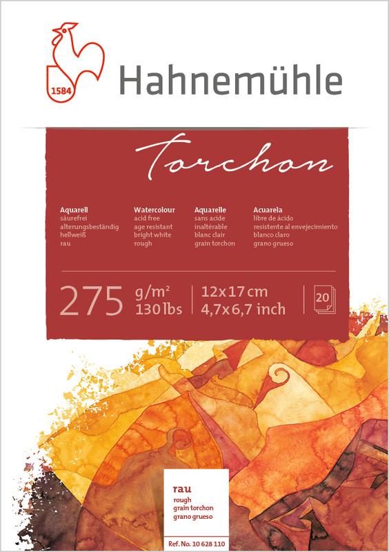 Akvarellblock Hahnemühle Torchon 275g 12x17cm 20ark