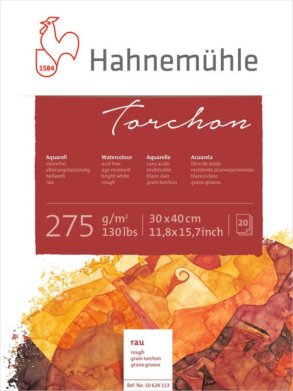 Akvarellblock Hahnemühle Torchon 275g 30x40cm 20ark