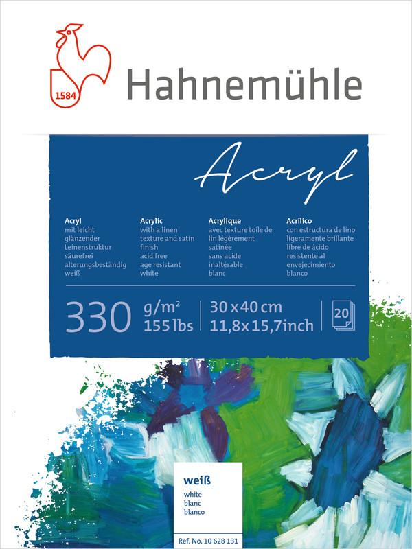 Akrylblock Hahnemühle 330g 30x40cm 20ark