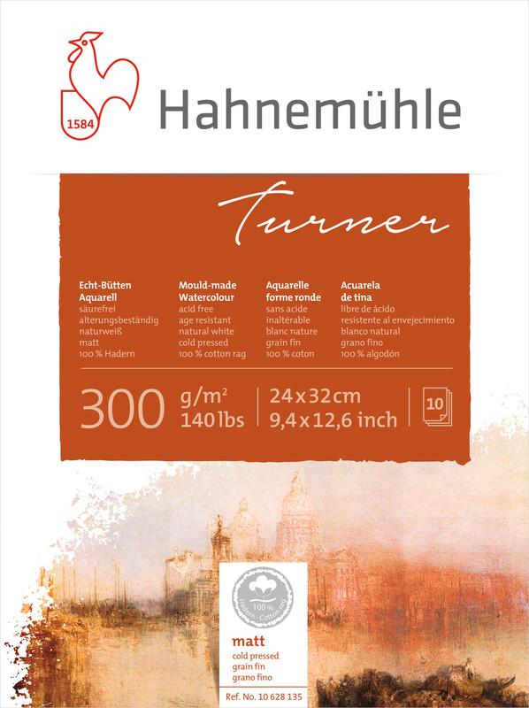 Akvarellblock Hahnemühle Turner 300g Cold Pressed 24x32cm 10ark