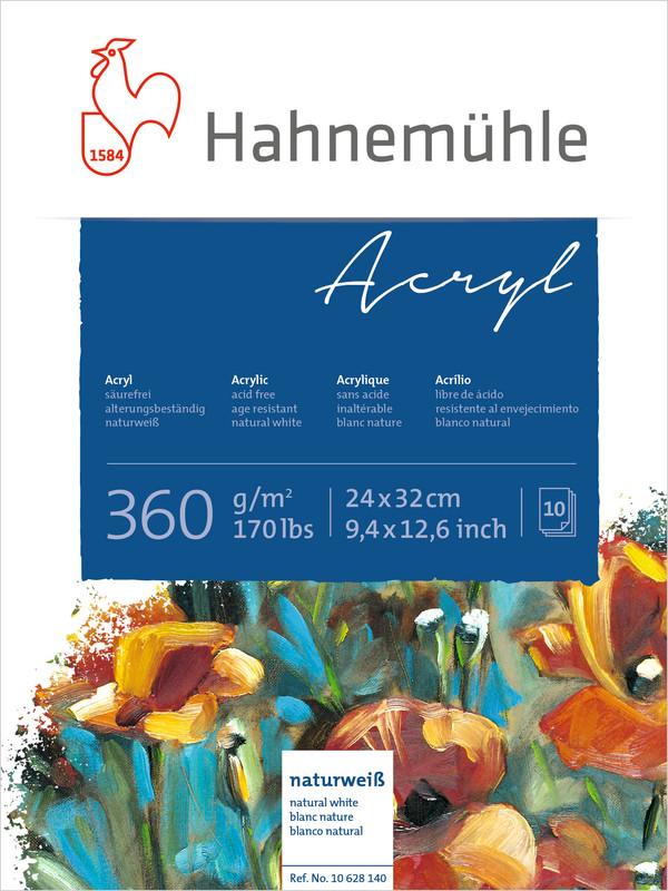 Akrylblock Hahnemühle 360g 24x32cm 10ark