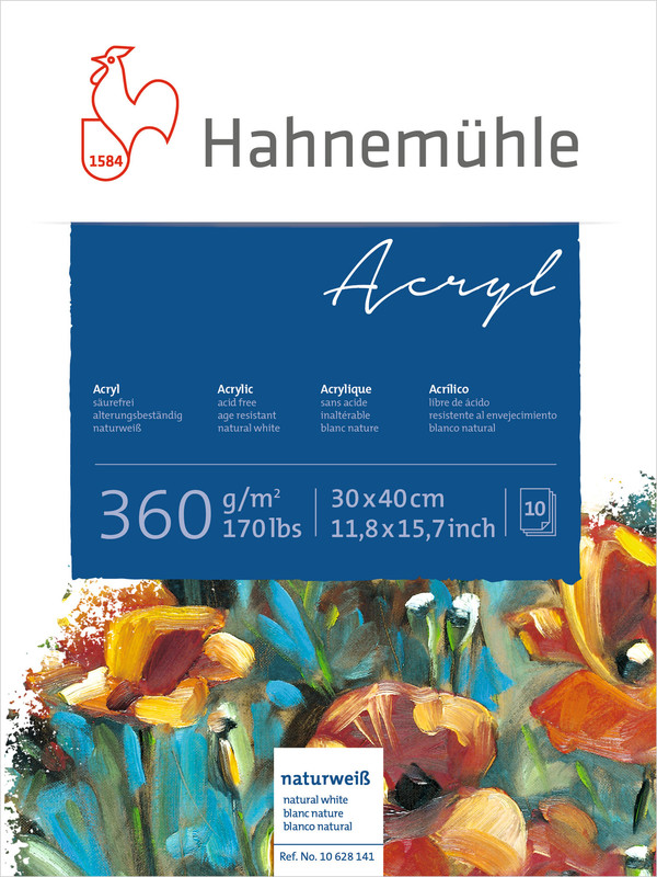 Akrylblock Hahnemühle 360g 30x40cm 10ark