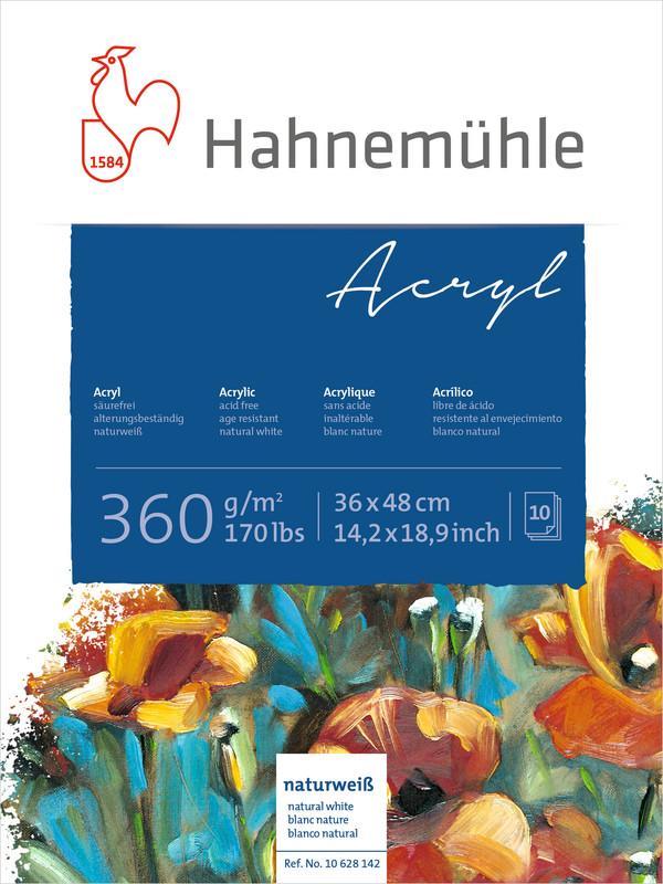 Akrylblock Hahnemühle 360g 36x48cm 10ark