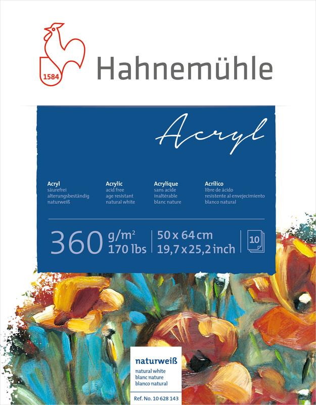 Akrylblock Hahnemühle 360g 50x64cm 10ark