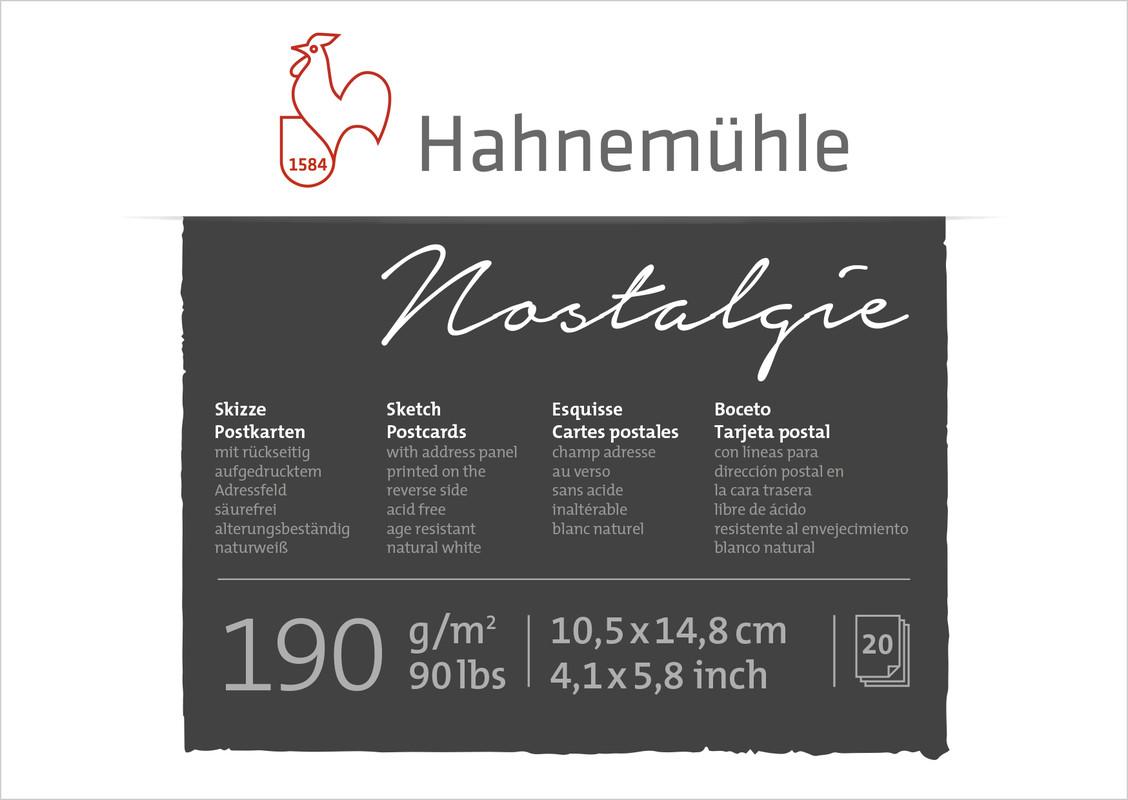 Ritblock Hahnemühle Sketch Vykort 190g 10,5x14,8cm 20ark