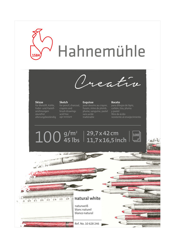 Skissblock Hahnemühle Sketch Creativ 100g A3 100ark