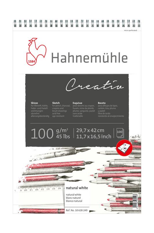 Skissblock Hahnemühle Sketch Creativ 100g spiral A3 100ark