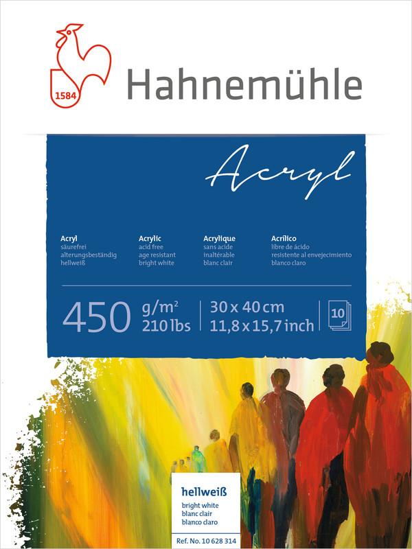 Akrylblock Hahnemühle 450g 30x40cm 10ark