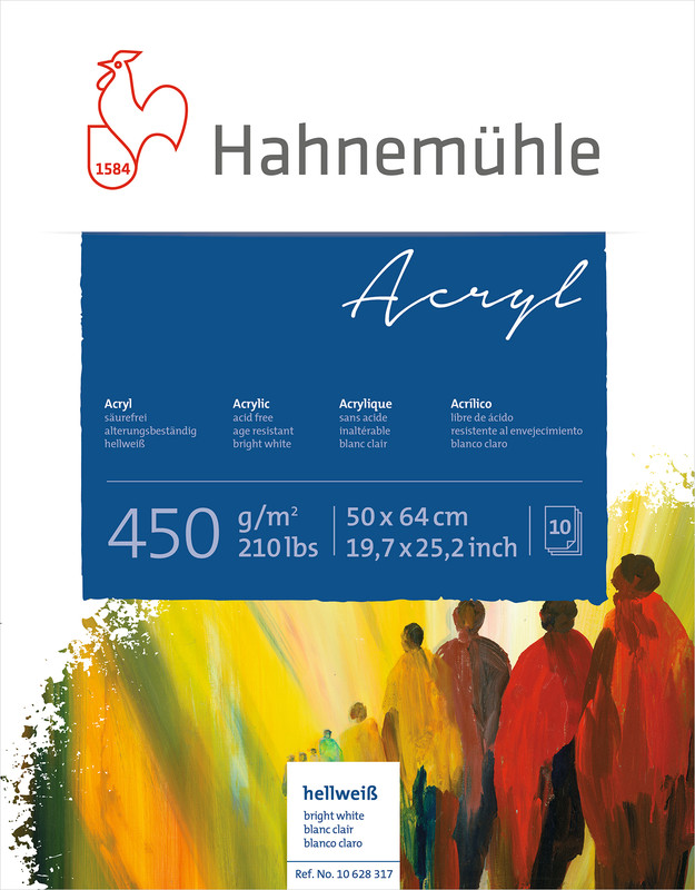 Akrylblock Hahnemühle 450g 50x64cm 10ark