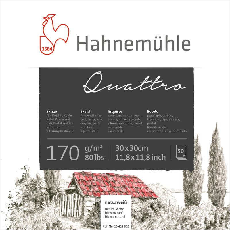 Ritblock Hahnemühle Sketch Quattro 170g 25,4x25,4cm 50ark