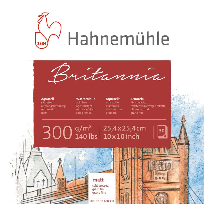 Akvarellblock Hahnemühle Quattro 300g Cold Pressed 25,4x25,4cm 30ark