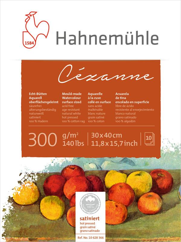Akvarellblock Hahnemühle Cézanne 300g HP 30x40cm 10ark