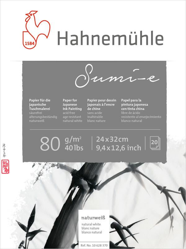 Tuschblock Hahnemühle Sumi-e 80g 24x32cm 20ark