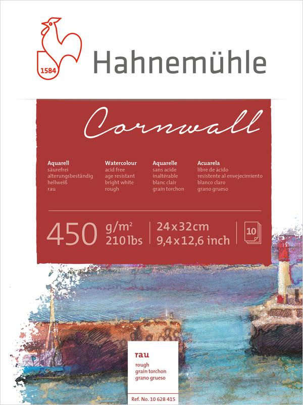 Akvarellblock Hahnemühle Cornwall 450g Rough 24x32cm 10ark