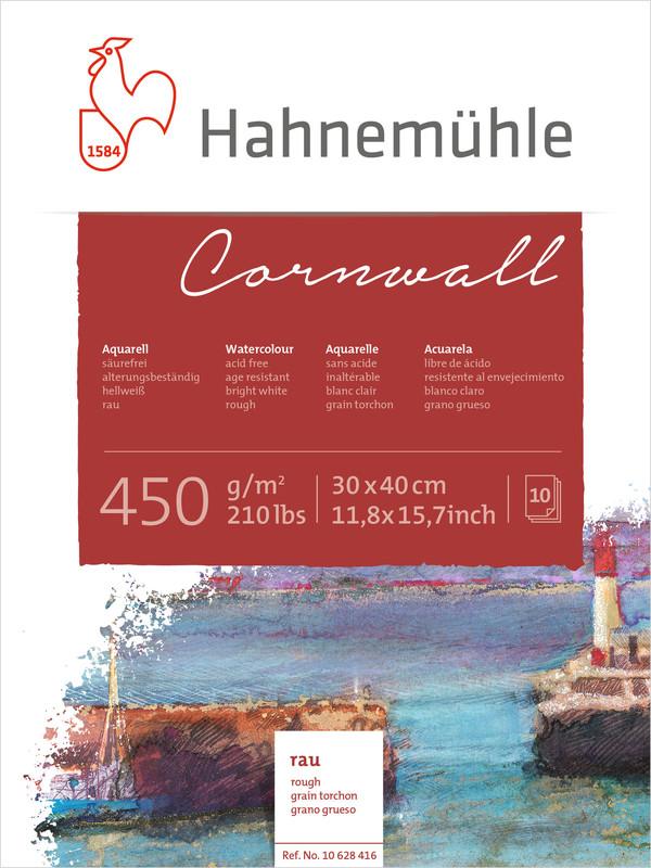 Akvarellblock Hahnemühle Cornwall 450g Rough 30x40cm 10ark