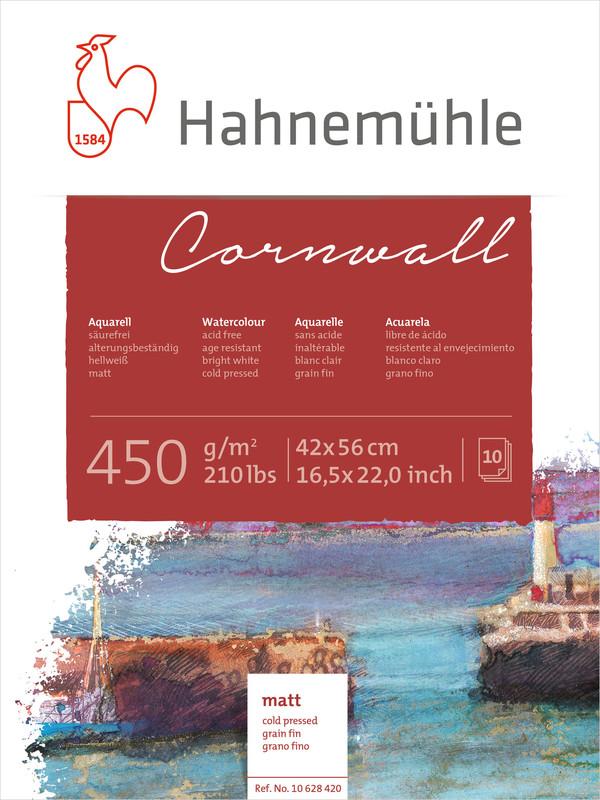 Akvarellblock Hahnemühle Cornwall 450g Cold Pressed 42x56cm 10ark