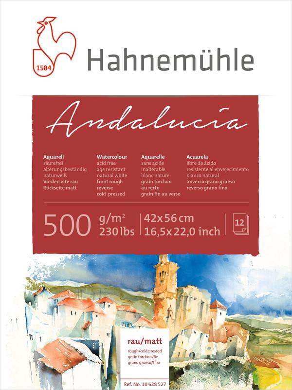 Akvarellblock Hahnemühle Andalucía 500g Rough/Cold Pressed 42x56cm 12ark
