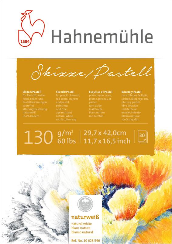 Skissblock Hahnemühle Sketch Pastel 130g A5 30ark (5F)