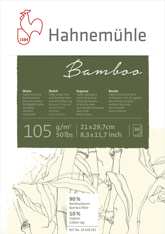 Skissblock Hahnemühle Sketch Bamboo 105g A5 30ark