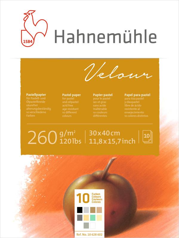 Pastellblock Hahnemühle Velour Färgade 260g 30x40cm 10ark
