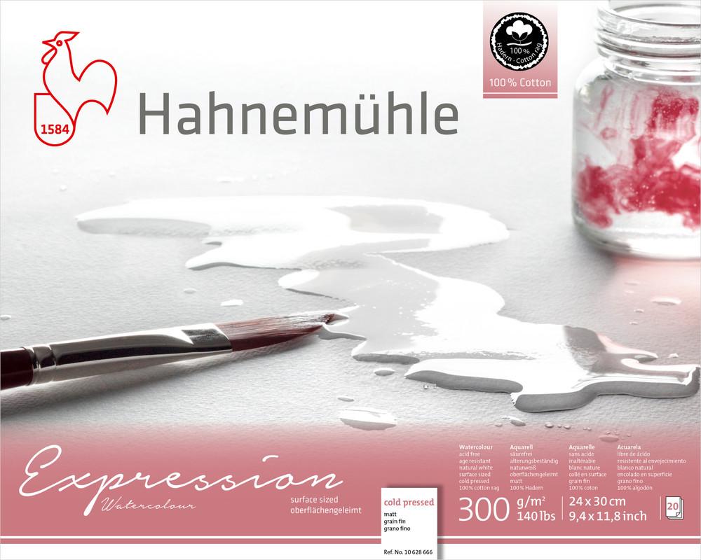 Akvarellblock Hahnemühle Expression 300g Cold Pressed 24x30cm 20ark