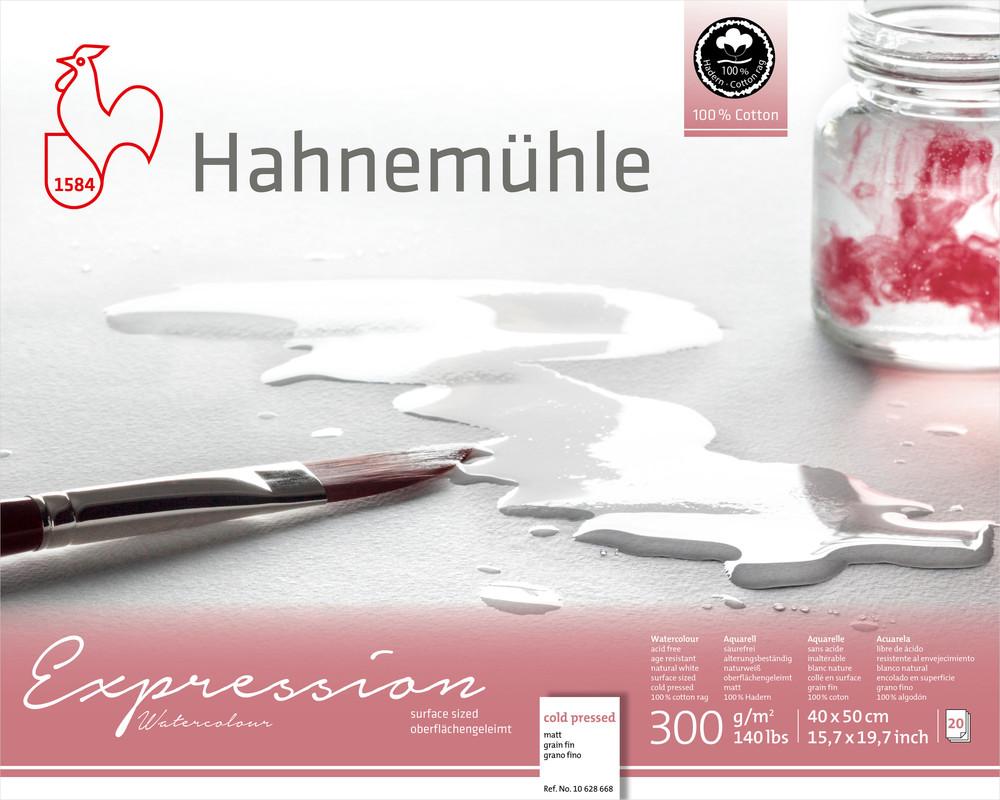 Akvarellblock Hahnemühle Expression 300g Cold Pressed 40x50cm 20ark