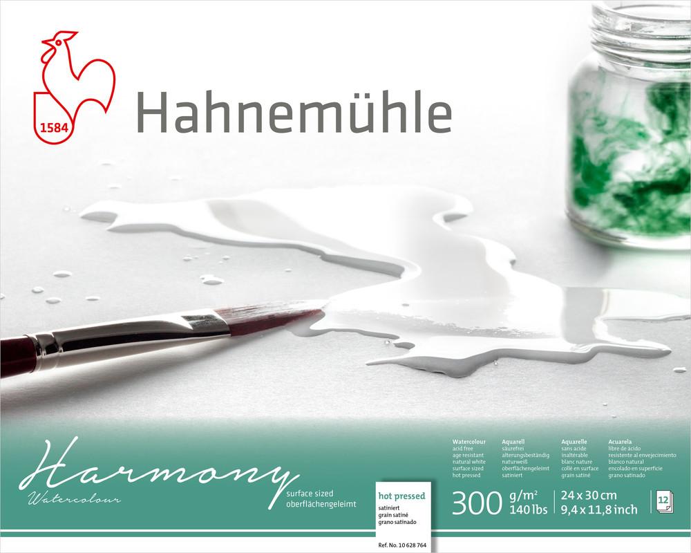 Akvarellblock Hahnemühle Harmony 300g HP 24x30cm 12ark
