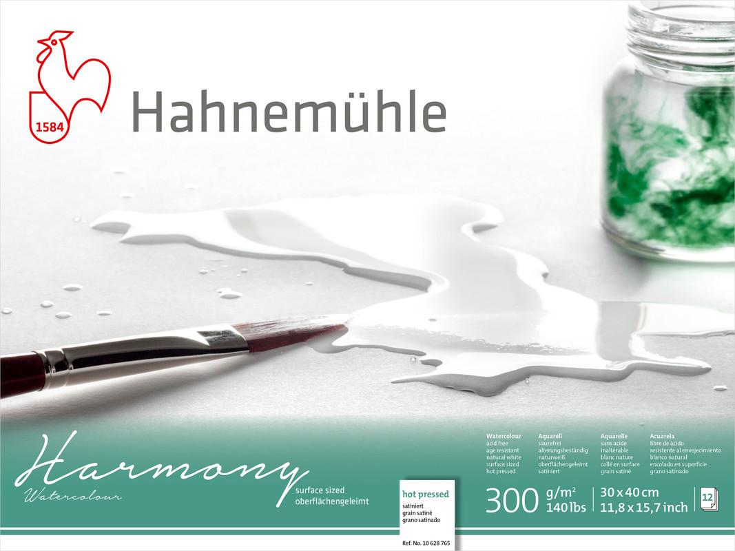 Akvarellblock Hahnemühle Harmony 300g HP 30x40cm 12ark