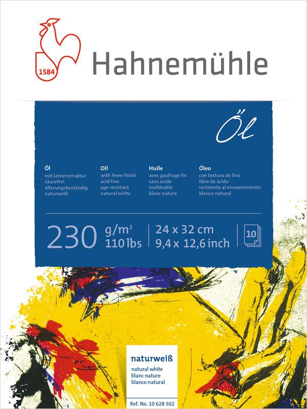 Målningsblock Hahnemühle Oil/Acrylic 230g 24x32cm 10ark