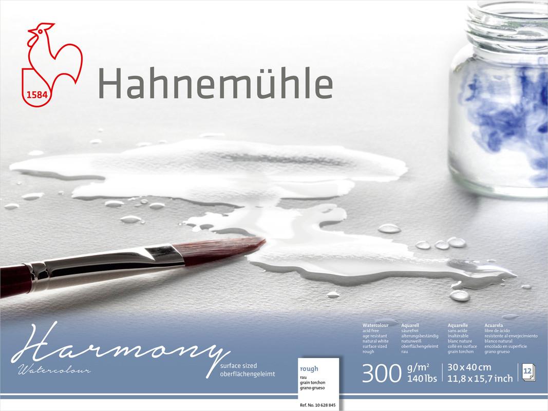 Akvarellblock Hahnemühle Harmony 300g Rough 30x40cm 12ark