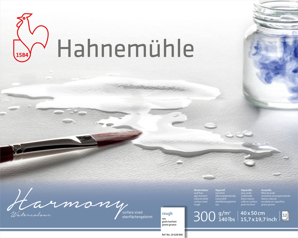 Akvarellblock Hahnemühle Harmony 300g Rough 40x50cm 12ark