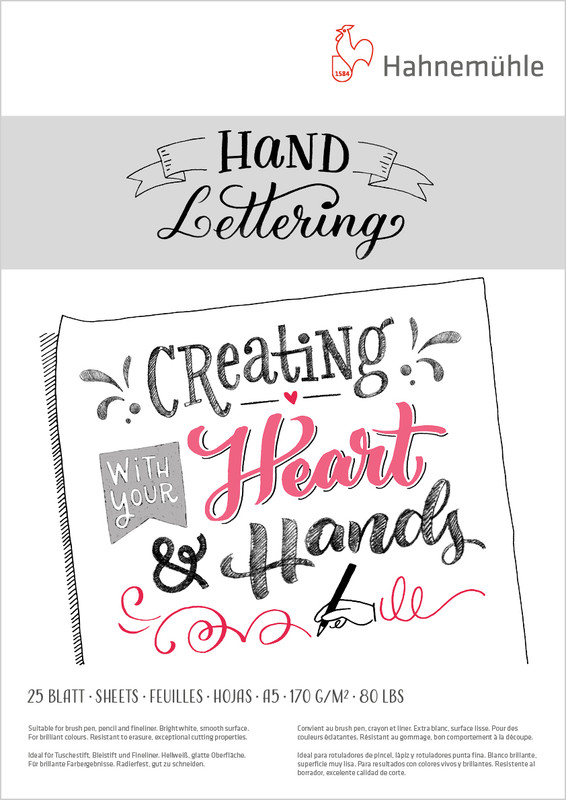 Ritblock Hahnemühle Hand Lettering 170g A5 25ark