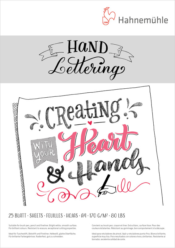 Ritblock Hahnemühle Hand Lettering 170g A4 25ark