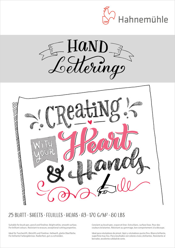 Ritblock Hahnemühle Hand Lettering 170g A3 25ark A3 utgått