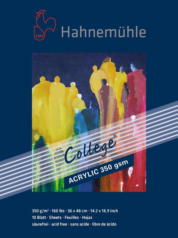 Akrylblock Hahnemühle College 350g 36x48cm 10ark