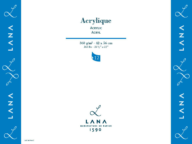 Akrylpaper LANA 360 g  500 x 650. (10F)