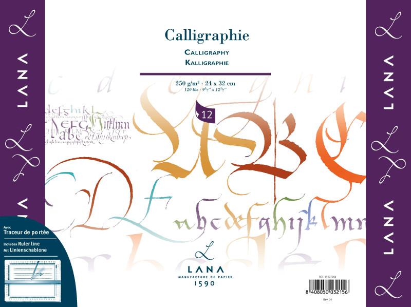 Kalligrafiblock LANA Calligraphie 250 g  300x400. 12ark