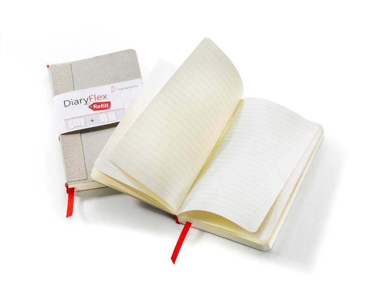 Skissbok Hahnemühle REFILL DiaryFlex 100g 18,2x10,4cm 80ark Olinjerat