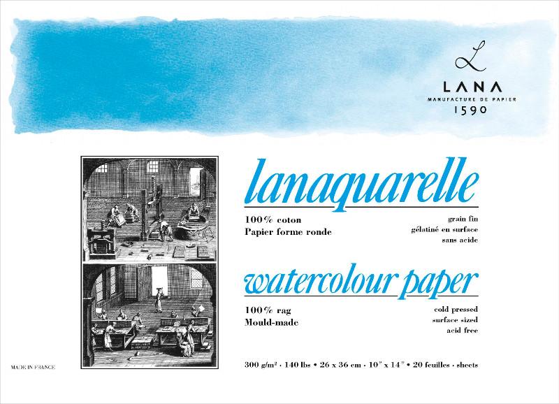 Akvarellblock LANA Lanaquarelle 300 g ColdP. 230 x 310. 20ark