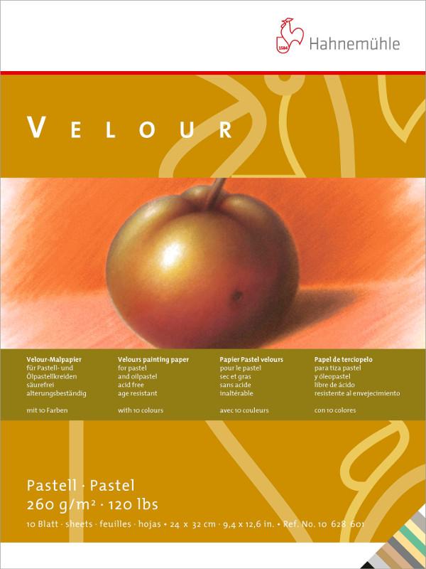 Pastellblock Hahnemühle Velour Färgade 260g 24x32cm 10ark (5F)