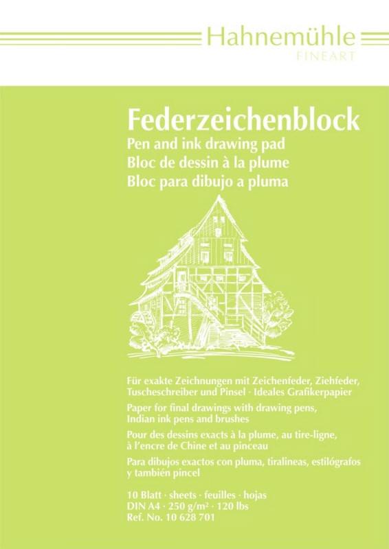 Ritblock Hahnemühle PenPad 250g A4 10ark (5F)