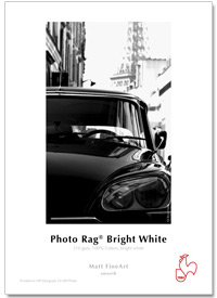 "InkJet Hahnemühle Photo Rag B.White 310g 44""x12m rulle"