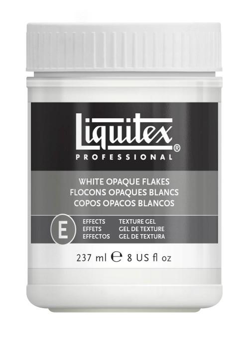 Akrylmedium Liquitex Effekt White opaque flake 237 ml